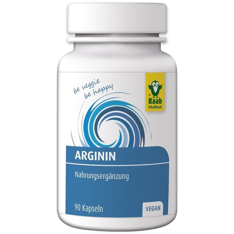 L-arginin 550mg, 90 capsule vegane RAAB