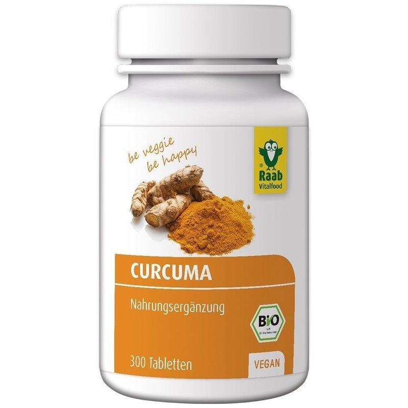 Curcuma bio 300mg, 300 tablete vegane RAAB
