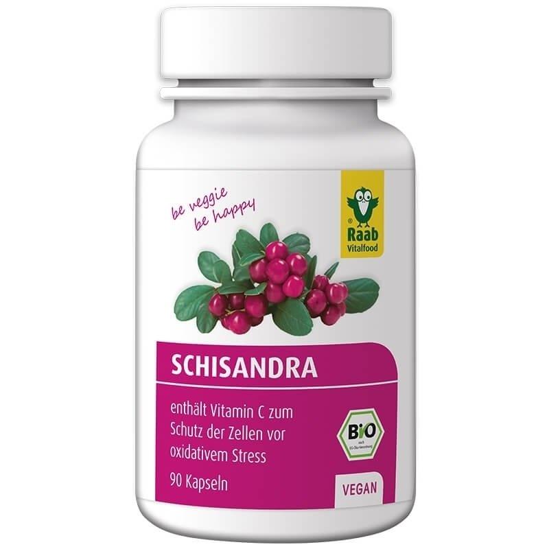 Schizandra extract bio 580mg, 90 capsule vegane RAAB