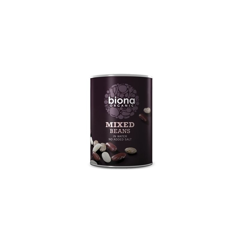 Mix din 3 tipuri de fasole boabe bio 400g Biona