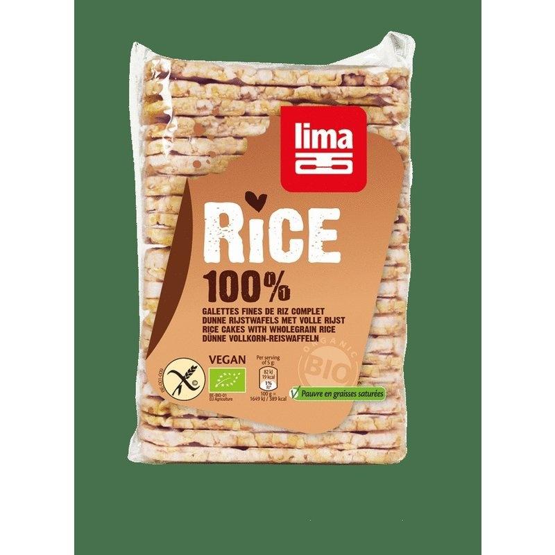 Rondele de orez expandat cu sare bio 130g Lima PROMO