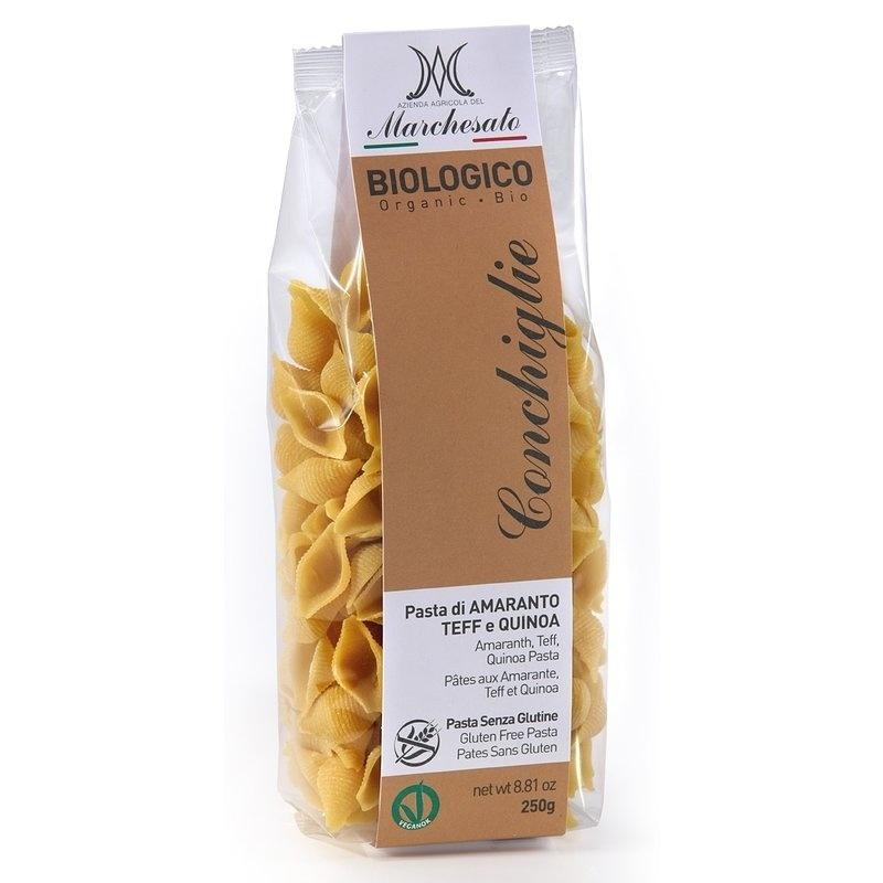 Paste conchiglie din amarant, teff si quinoa bio fara gluten 250g Marchesato