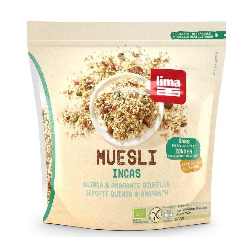 Muesli Incas cu quinoa si amaranth fara gluten bio 350g