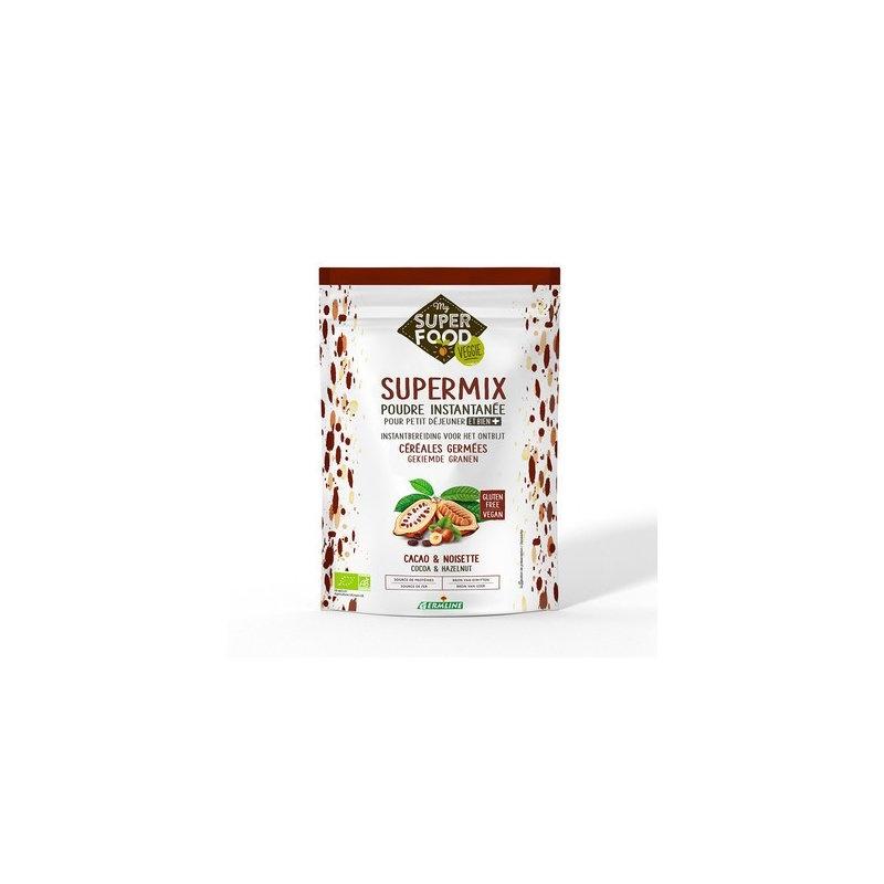 Supermix pentru micul dejun cu alune de padure si cacao bio 350g, fara gluten