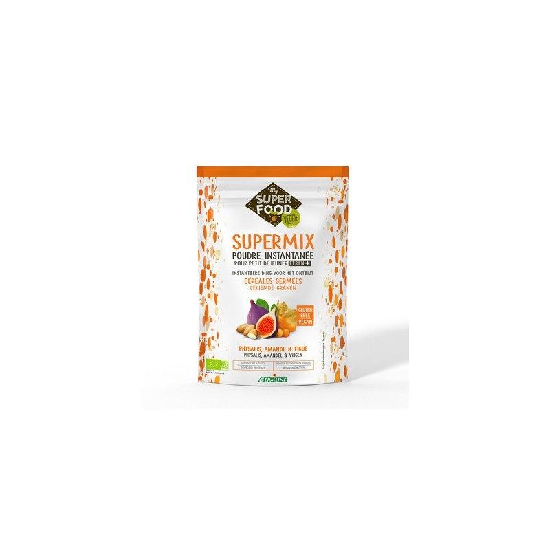 Supermix pentru micul dejun cu incan berry, migdale si smochine bio 350g, fara gluten