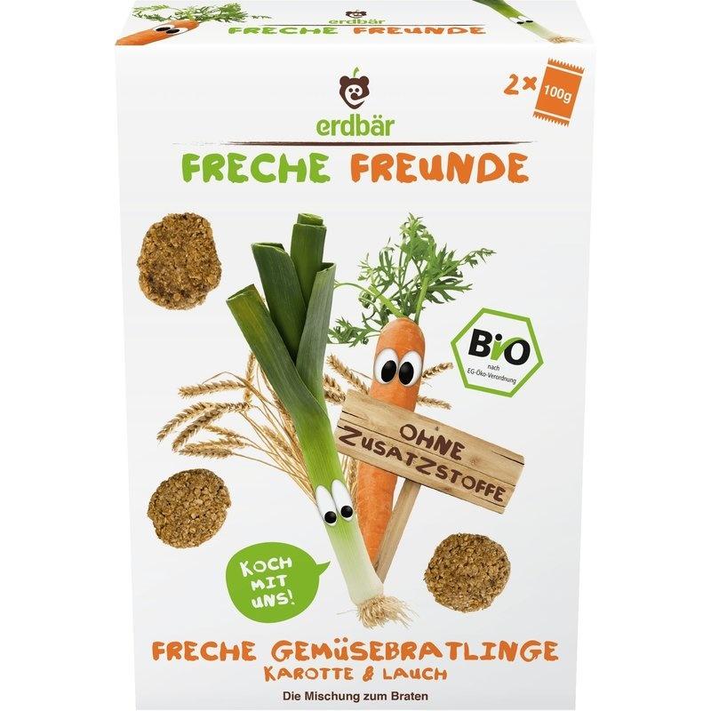 Chiftelute cu morcovi si praz bio 2 x 100g