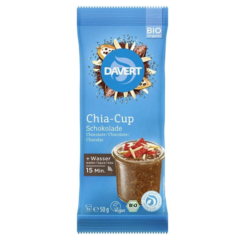 Chia cup ciocolata bio 50g DAVERT