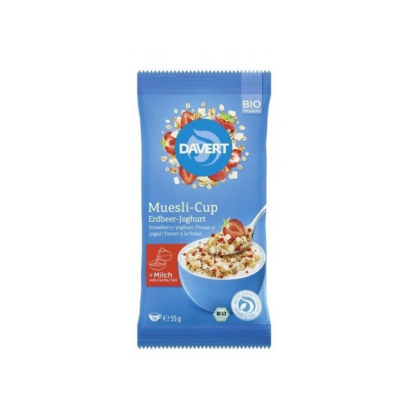 Musli-Cup capsuni si iaurt bio 55g DAVERT
