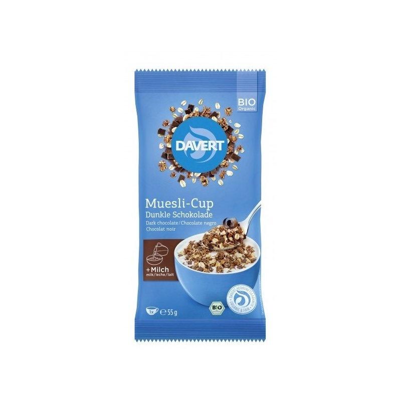 Musli-Cup ciocolata neagra bio 55g DAVERT