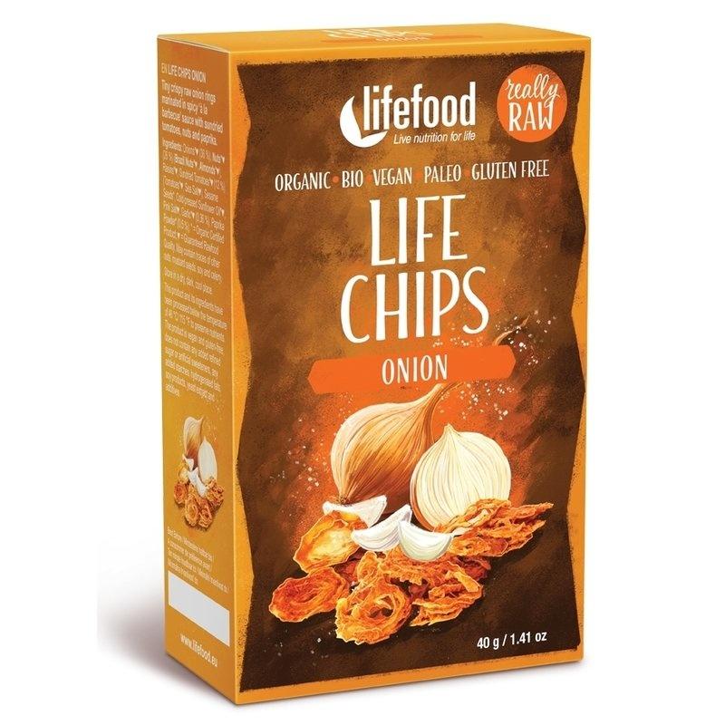 Life Chips din ceapa raw bio 40g