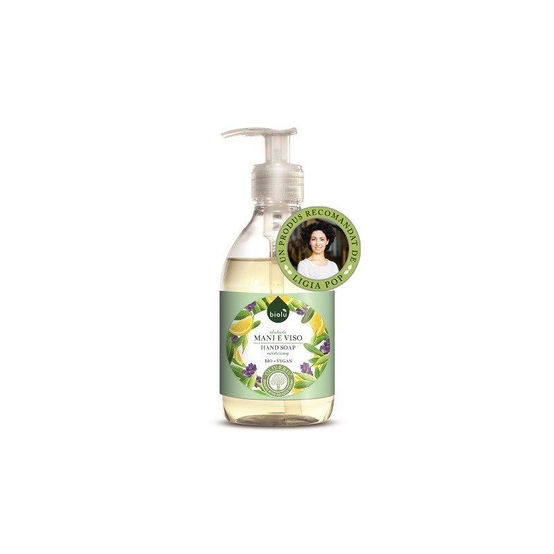 Sapun lichid ecologic antibacterian cu lavanda si Vitamina E 300ml Biolu