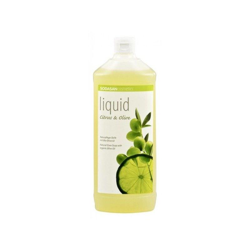 Sapun Lichid/Gel De Dus Bio Citrice-Masline 1 L Sodasan