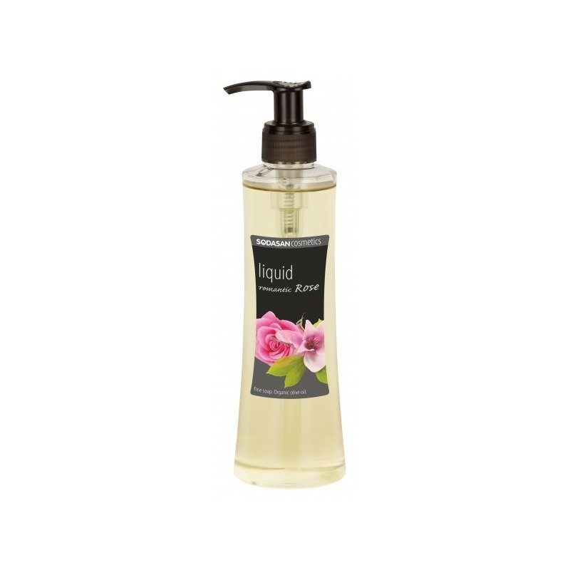 Sapun Lichid/Gel De Dus din Uleiuri Bio - Trandafir Romantic 250 ml Sodasan