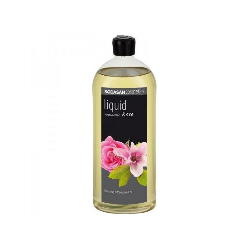 Sapun Lichid/Gel De Dus din Uleiuri Bio - Trandafir Romantic 1 L Sodasan