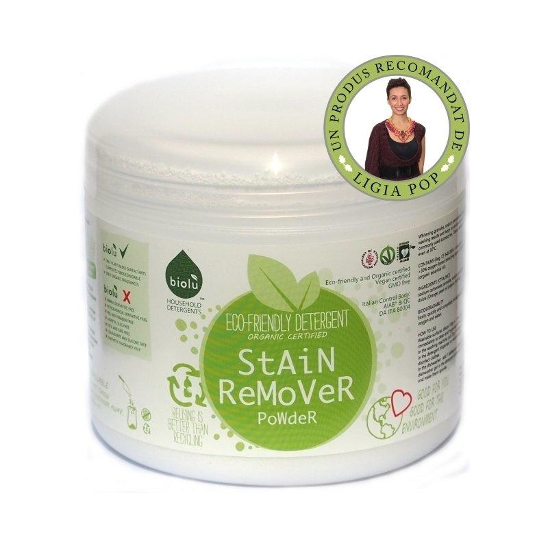 Detergent ecologic pentru indepartat pete pudra 1100g Biolu