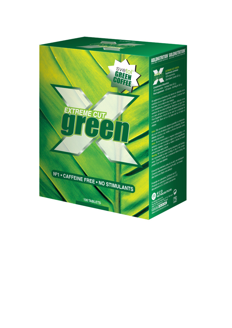 GOLDNUTRITION EXTREME CUT GREEN 100 TB