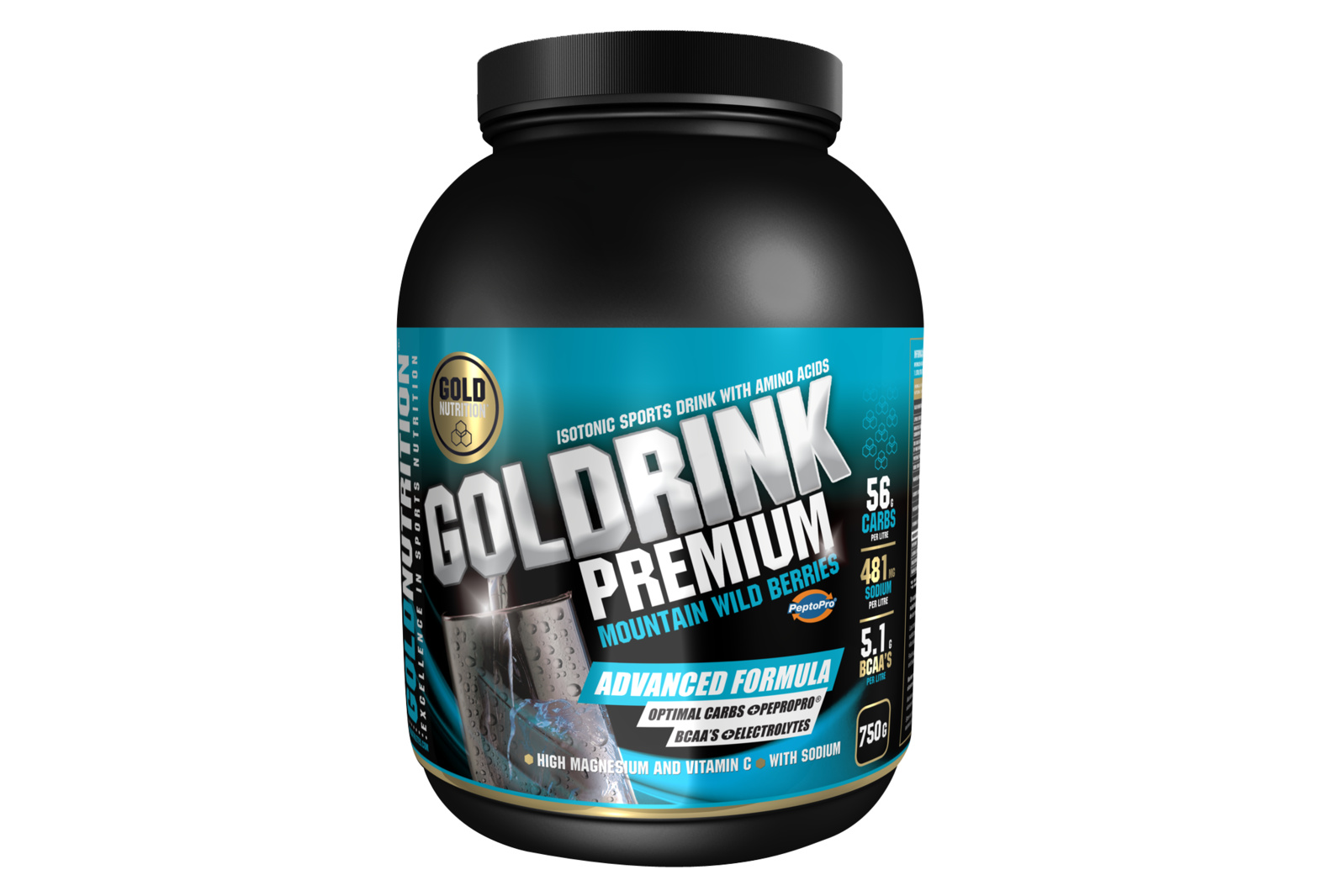 GOLDNUTRITION GOLDRINK PREMIUM + BCAA'S  FRUCTE DE PADURE 750 G
