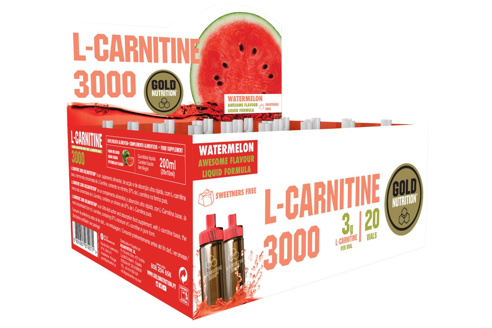 GOLDNUTRITION L-CARNITINA PEPENE ROSU 3000 20 DZ