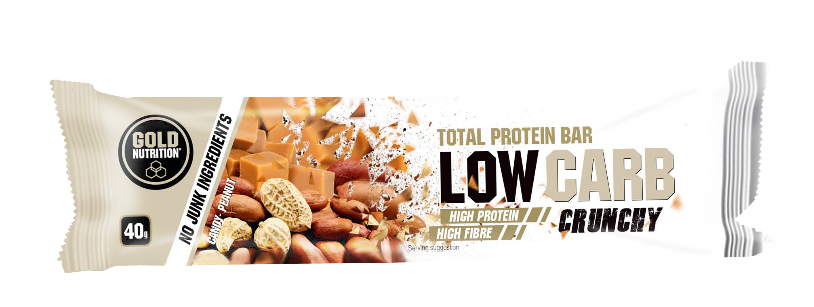 GOLDNUTRITION PROTEIN BAR LOW CARB CRUNCHY CARAMEL SI ALUNE