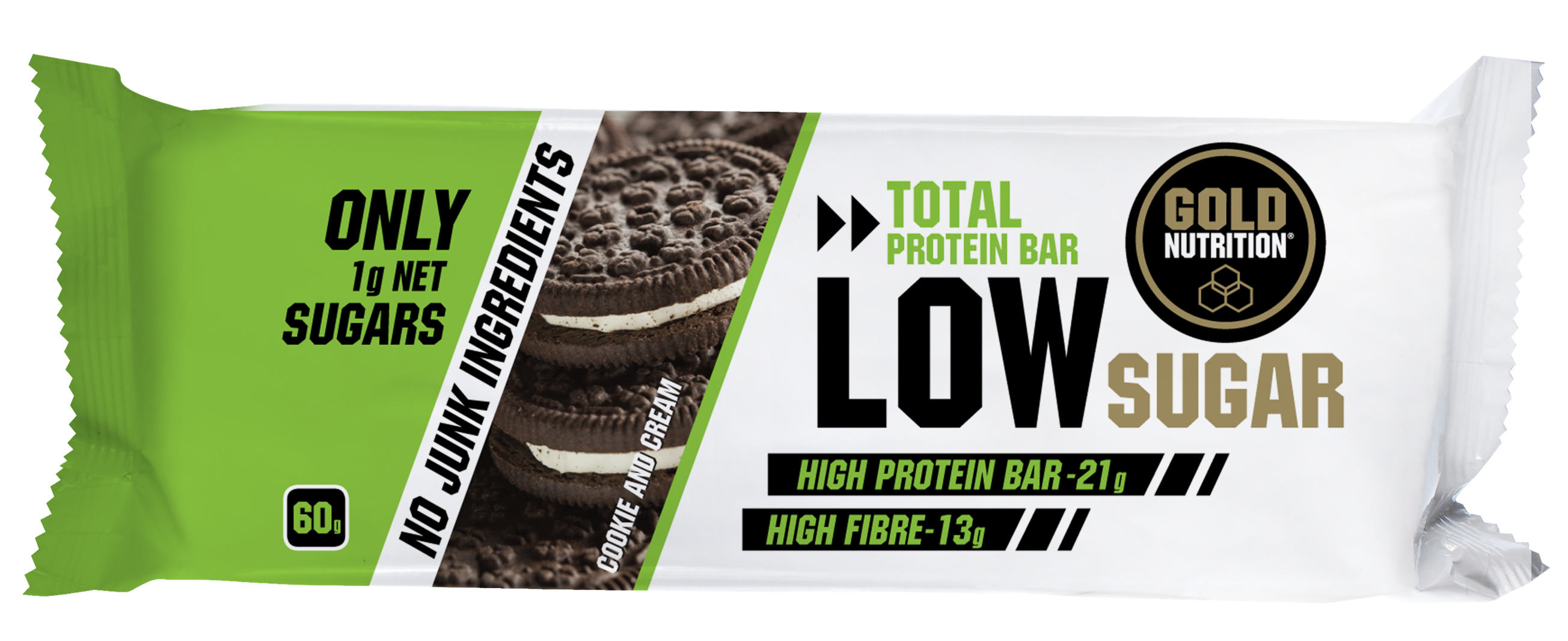 GOLDNUTRITION PROTEIN BAR LOW SUGAR BISCUITI 60 gr