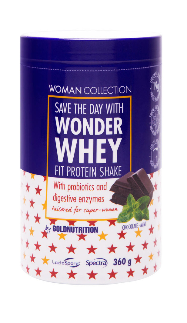 Woman Collection Wonder Whey Ciocolata si menta 360 g