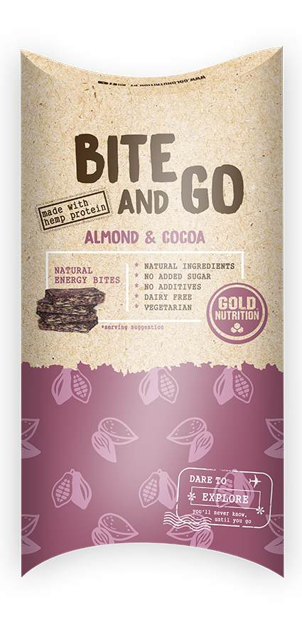 GOLDNUTRITION GUSTARE BITE AND GO MIGDALE SI COCAO 4X10G