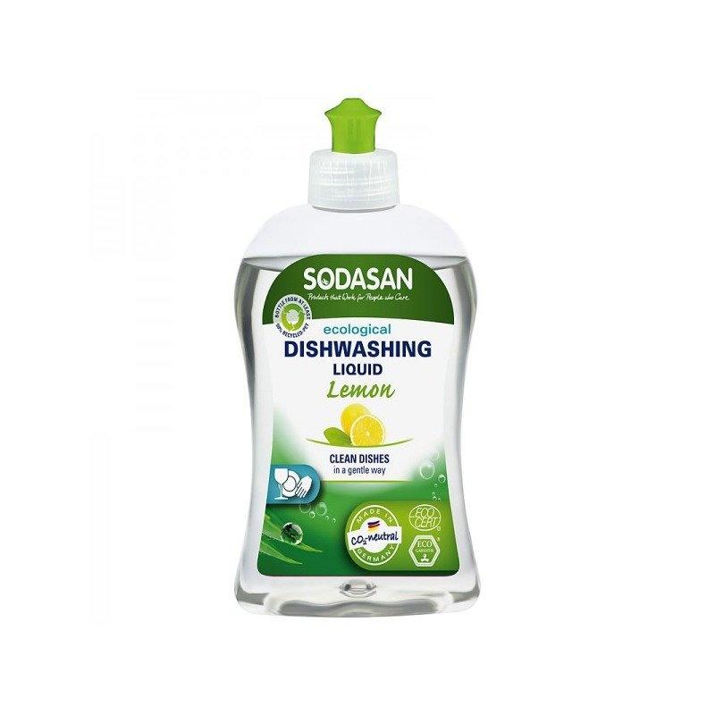 Detergent bio lichid pentru vase lamaie Sodasan 500 ml