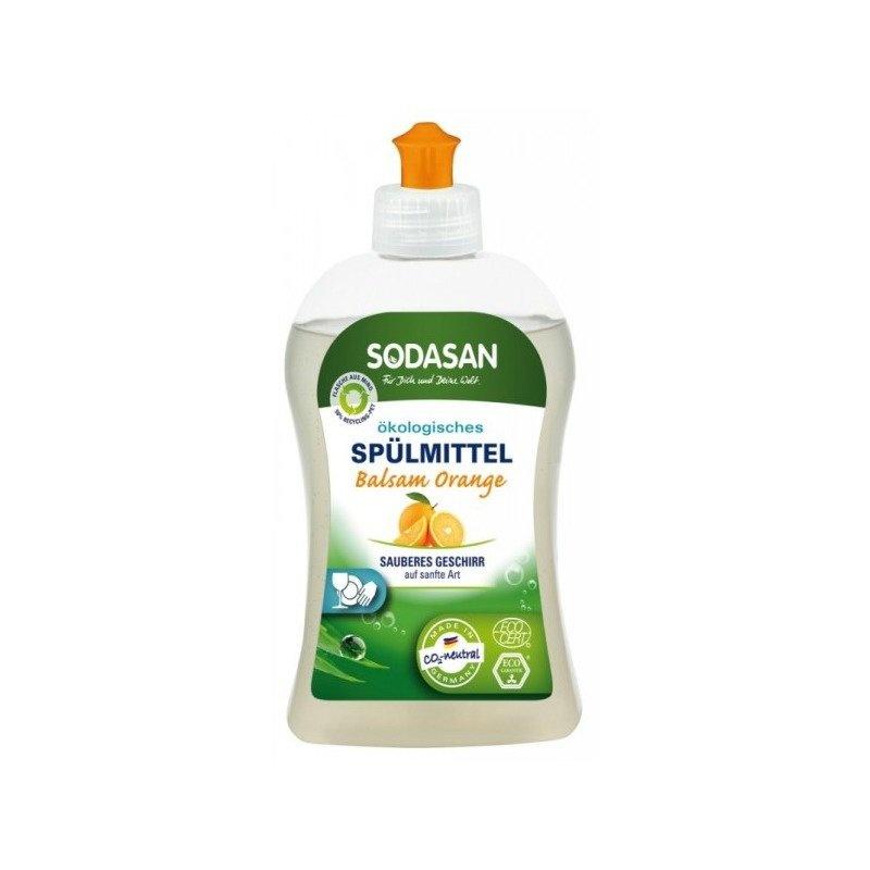 Detergent Vase Lichid Cu Balsam Bio Portocala 500 ml Sodasan