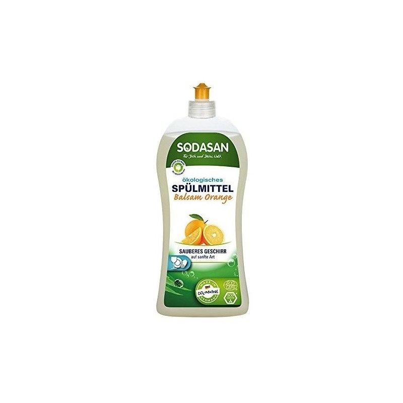 Detergent Vase Lichid Cu Balsam Bio Portocala 1L Sodasan