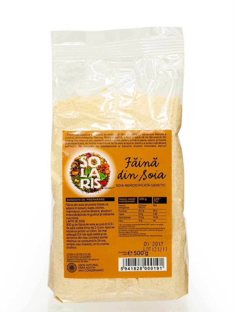 Faina soia nemodificata genetic Solaris 500 g